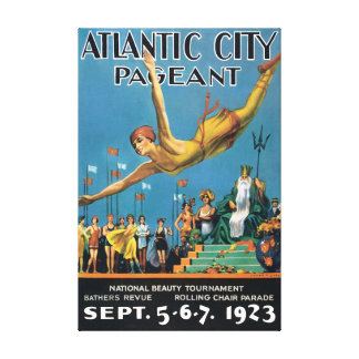 Atlantic City Pageant Vintage Travel Poster Canvas Print