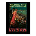 Atlantic City Pennsylvania Railroad Post Card