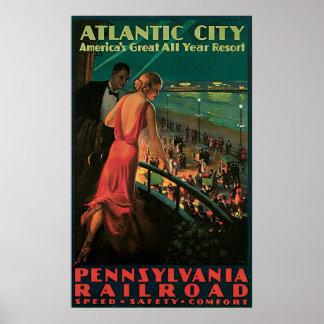 Atlantic City Pennsylvania Railroad Poster