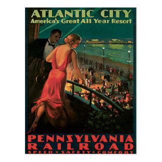 Atlantic City Pennsylvania Railroad Vintage Post Card