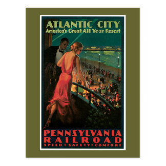 Atlantic City/ Pennsylvania Railroad Vintage Postcard