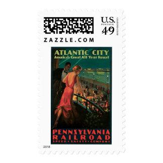Atlantic City/ Pennsylvania Railroad Vintage Stamp
