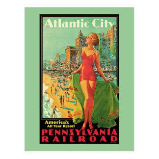 Atlantic City - Pennsylvania RR Vintage Travel Post Cards