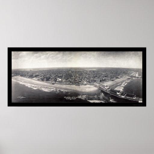 Atlantic City Photo 1909 Poster