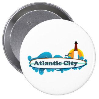 Atlantic City. Pinback Button