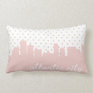 Atlantic City pink polka dots Lumbar Pillow