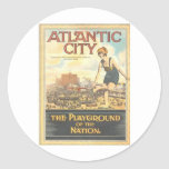 Atlantic City-Playground of the Nation Stickers