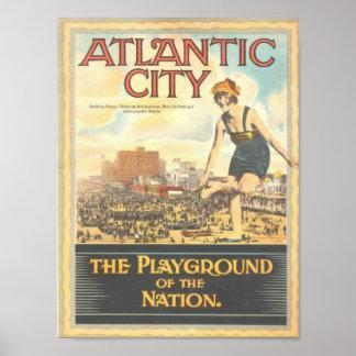 Atlantic City--Poster de la imagen de los años 20
