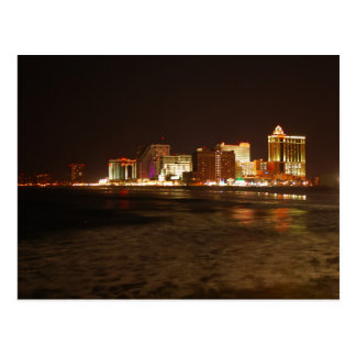 Atlantic City Skyline Postcard