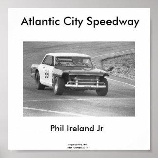 Atlantic City Speedway, Phil Ireland #99... Poster
