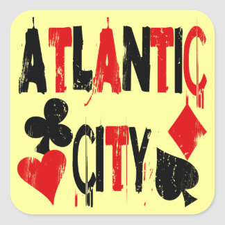 Atlantic City Square Sticker