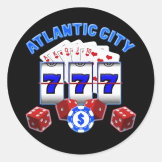 ATLANTIC CITY CLASSIC ROUND STICKER