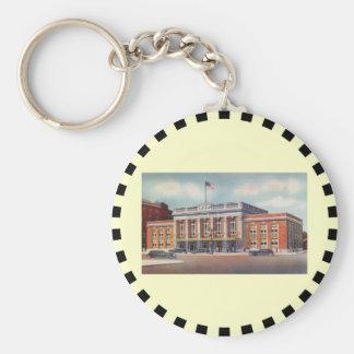 Atlantic City Train Station PRSL 1936 Basic Round Button Keychain