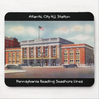 Atlantic City Train Station PRSL 1936 Mouse Pad
