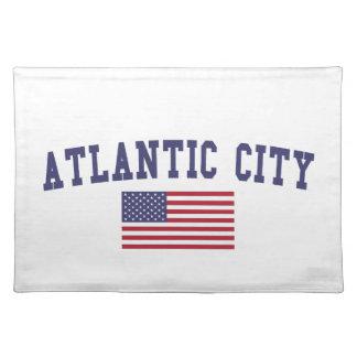 Atlantic City US Flag Cloth Placemat