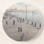 Atlantic City Vintage Postcard Coasters