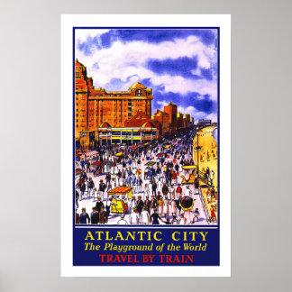 Atlantic City Vintage Travel Poster