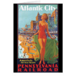 Atlantic City Vintage Travel Poster