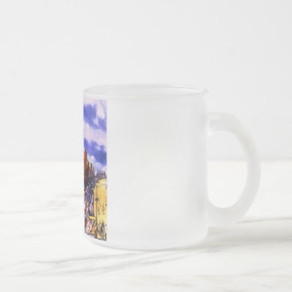 Atlantic City Vintage Travel Poster Frosted Glass Coffee Mug