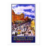 """Atlantic City"" Vintage Travel Poster Postcard"