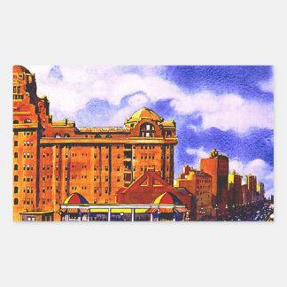 Atlantic City Vintage Travel Poster Rectangle Sticker