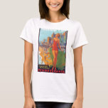 Atlantic City Vintage Travel Poster T-Shirt