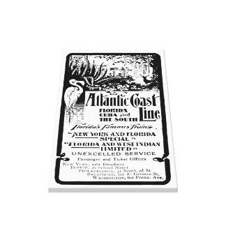 Atlantic Coast Line Railroad 1934 Canvas Print
