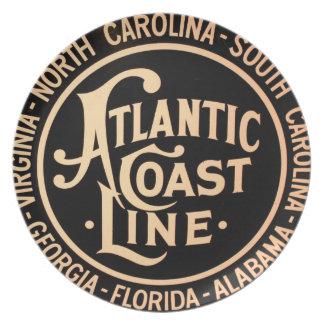 Atlantic Coast Line Railroad Plate