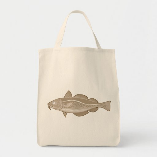 Atlantic Codfish Retro Grocery Tote Bag