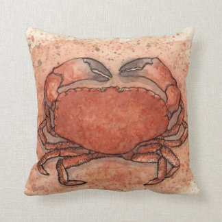 Atlantic Crab Throw Pillow