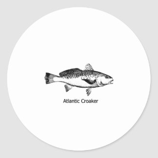 Atlantic Croaker Line Art Logo Round Sticker