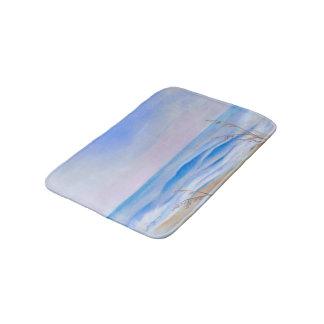 Atlantic Evening Sky Ocean Sea Oats Pastel Bathroom Mat