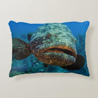 Atlantic Goliath Grouper Accent Pillow