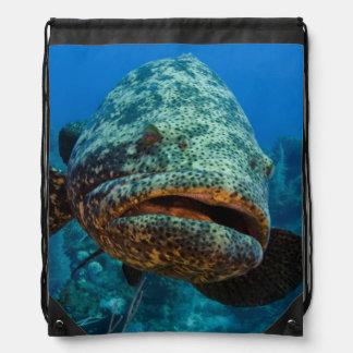 Atlantic Goliath Grouper Drawstring Backpack