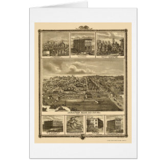 Atlantic, IA Panoramic Map - 1875 Card