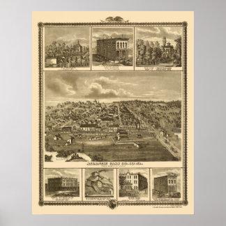 Atlantic IA Panoramic Map - 1875 Poster