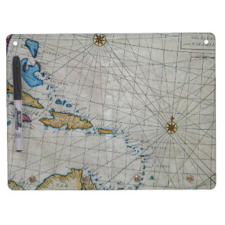 Atlantic Nautical Chart Dry Erase Board With Keychain Holder