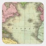 Atlantic Ocean 4 Square Sticker