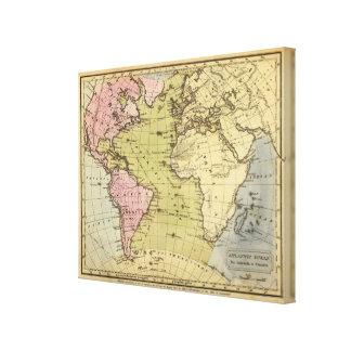 Atlantic Ocean Atlas Map Canvas Print