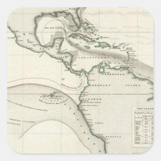Atlantic Ocean Current Square Sticker