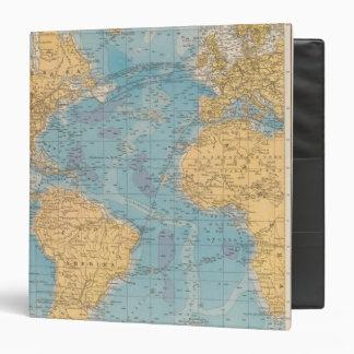 Atlantic Ocean Map 3 Ring Binders