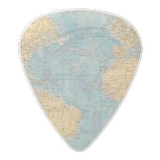 Atlantic Ocean Map Acetal Guitar Pick
