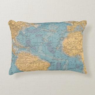 Atlantic Ocean Map Accent Pillow