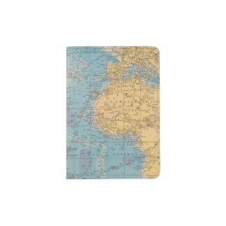 Atlantic Ocean Map Passport Holder