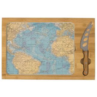 Atlantic Ocean Map Rectangular Cheeseboard