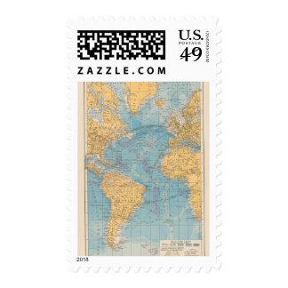 Atlantic Ocean Map Stamp