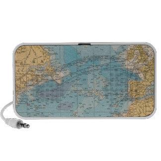 Atlantic Ocean Map Travel Speakers