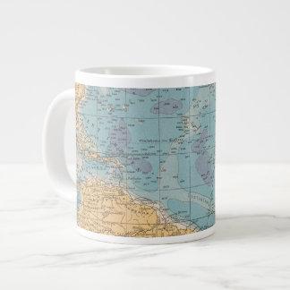 Atlantic Ocean Map 20 Oz Large Ceramic Coffee Mug