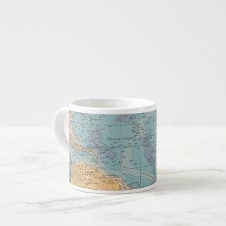 Atlantic Ocean Map 6 Oz Ceramic Espresso Cup