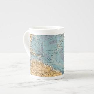 Atlantic Ocean Map Tea Cup